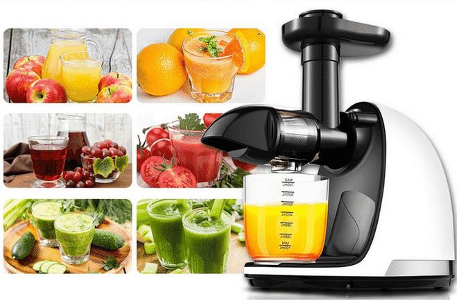 AMZCHEF Extracteur de jus de fruits et de légumes pas cher