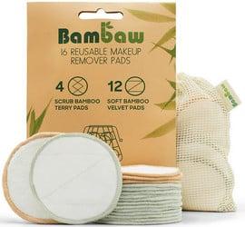 Lingette démaquillante lavable Bambaw (16 pièces)