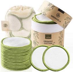Lingette démaquillante lavable Greenzla (20 pièces)