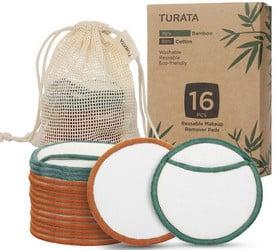 Lingette démaquillante lavable Turata (16 pièces)