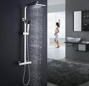 colonne de douche Auralum à effet pluie