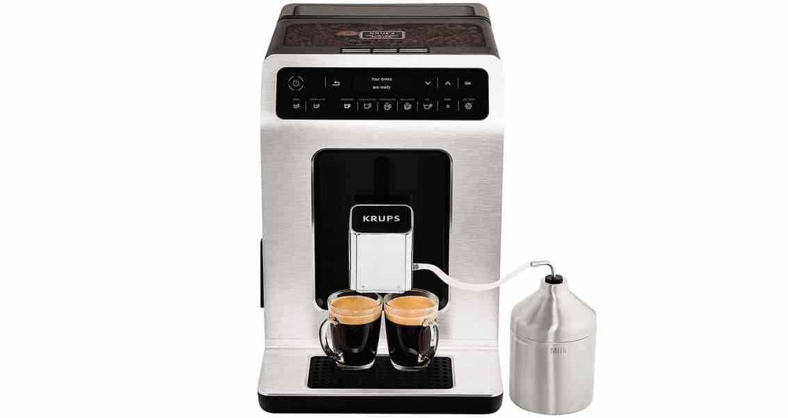 Avis sur la machine à café broyeur grain Krups Evidence EA890110
