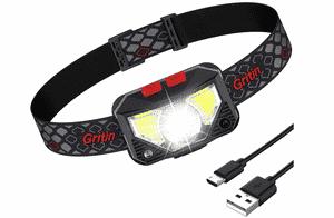 Avis lampe frontale LED Gritin