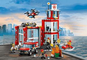 Test et avis sur la caserne des pompiers Lego City 60215