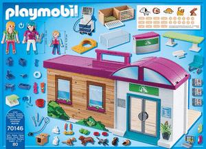 Test et avis sur la clinique vétérinaire transportable Playmobil 70146