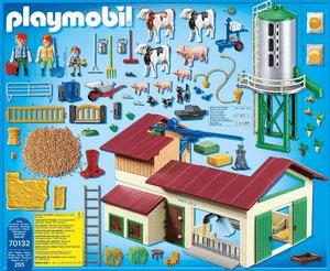 Test et avis sur la grande ferme avec silo et animaux Playmobil 70132
