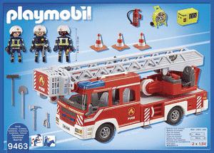 Test et avis sur le camion de pompier avec échelle pivotante Playmobil 9463